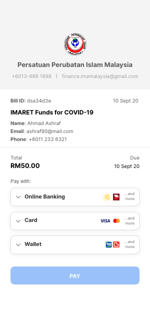 Payment form payment method